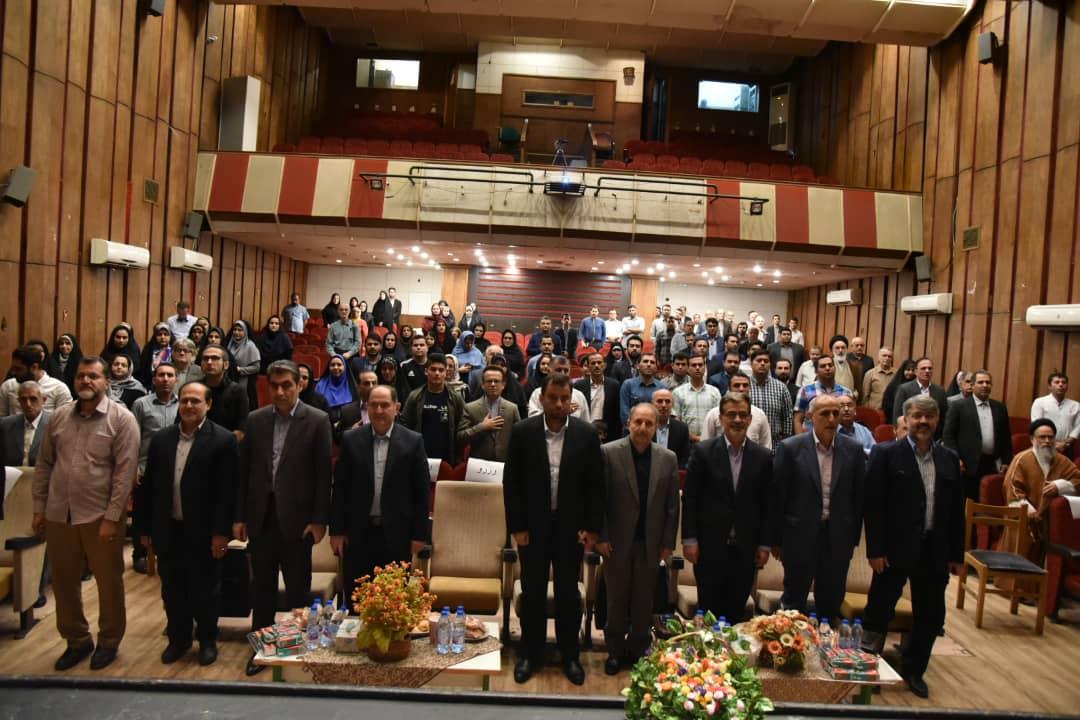 برگزاری مراسم تقدیر از خبرنگاران در سالن خاتم الانبیاء رشت