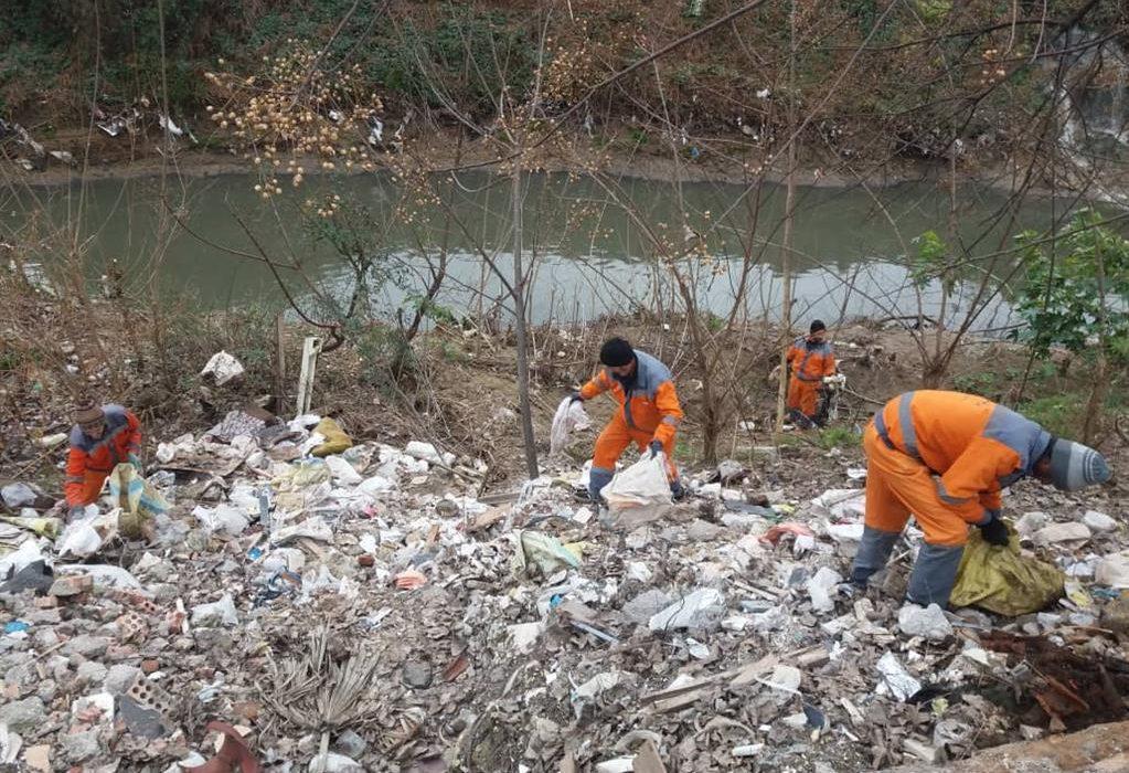 حاشیه رودخانه های رشت پاکسازی شد