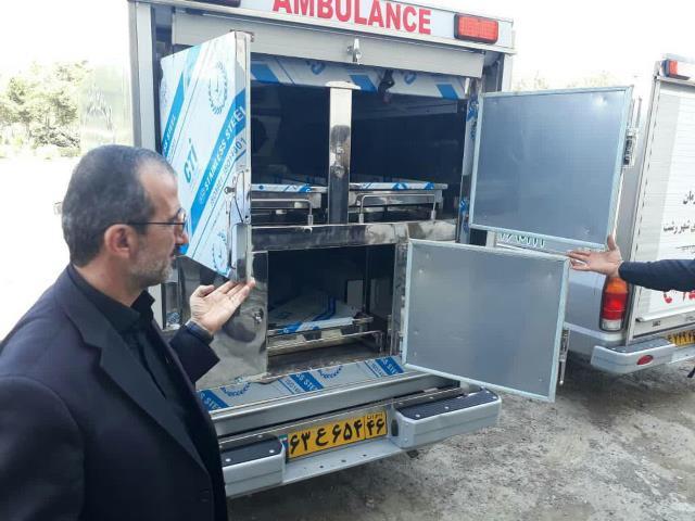 سه دستگاه آمبولانس دارای سردخانه سیار در رشت به کارگیری شد