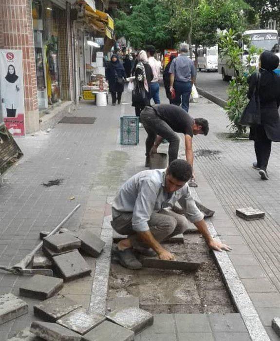 ادامه فعالیت های وسیع عمرانی منطقه دو شهرداری رشت در هفته اول تیر ماه