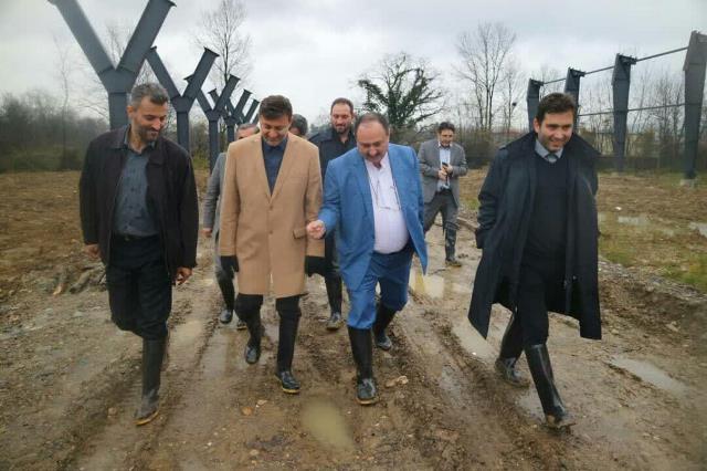بازدید شهردار رشت از روند اجرای ساخت سوله های پردازش زباله شرکت کود آلی گیلان