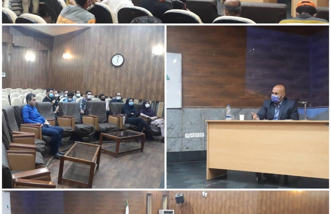 جلسه بررسی و برنامه ریزی برای انتخاب روسای کمیته های مجمع صنفی کارکنان شهرداری رشت